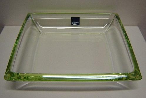 Corner bord/schaal groen; 20 x 20 x 3 h. cm