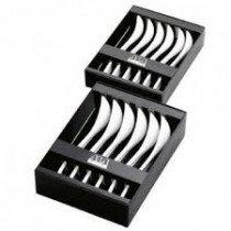 Cappuccinolepels 'Asa' (porselein; set van 6); 13;5 cm