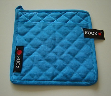 Pannenlap 'Kook'; blauw