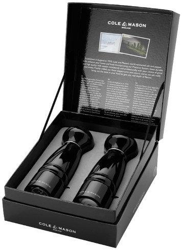 Peper- en zoutmolen 'Cole & Mason' (Windsor); zwart glans 18 cm