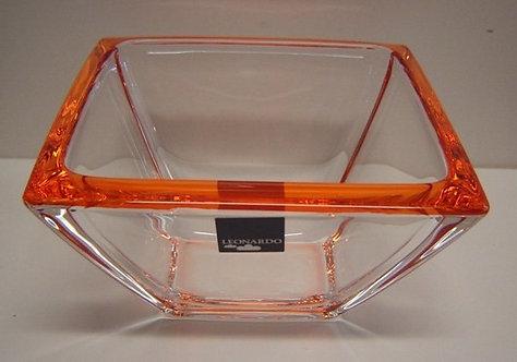 Corner schaal klein oranje; 12;5 x 12;5 x 7 h. cm