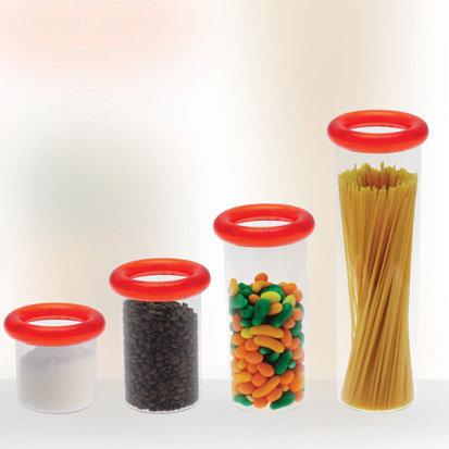 Voorraadpot (glas); 350 ml (sluit goed af)