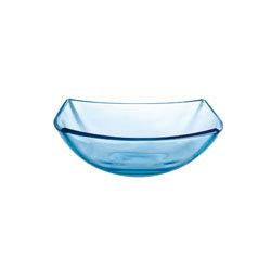 Quadrato blauw glas: schaal 16 cm