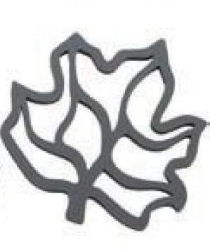 Pannenonderzetter 'Zone' (siliconen) blad; grijs