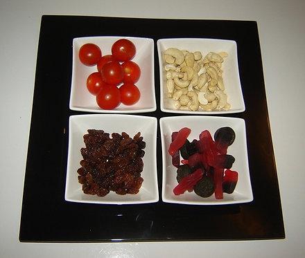 5-delige serveerschaalset; zwart