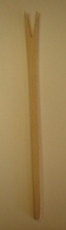Poffertjesvork (hout); 27 cm