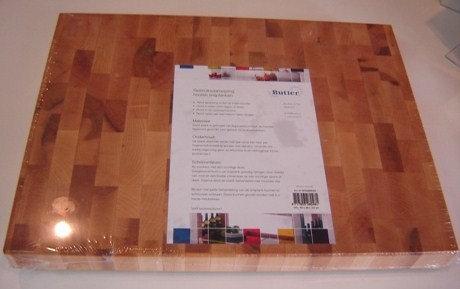 Butler snijplank (esdoornhout); 40 x 30 x 3;5 cm