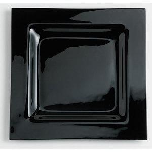 'Mondo' bord zwart (glas); 30 cm