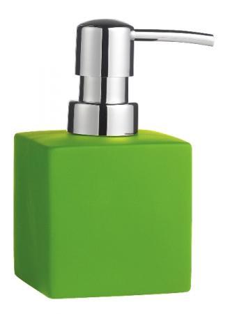 Zeeppomp vierkant groen; 7 x 7 x 13 h. cm