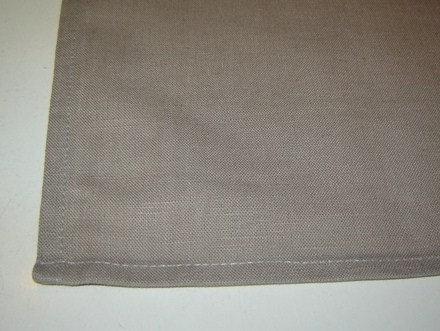 Servet 'Asa' licht grijs/leem; 50 x 50 cm