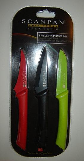 Aanbieding messenset (3-delig); 3 kleuren