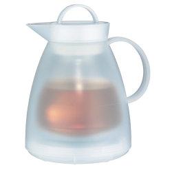 Alfi thermoskan 'Dan' wit; 1 liter (incl. theefilter)