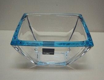 Corner schaal klein blauw; 12;5 x 12;5 x 7 h. cm