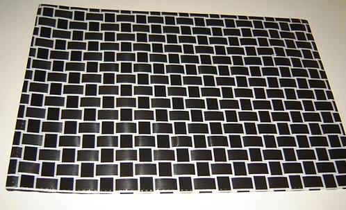 Placemat 'Asa' zwart-wit gevlochten; 43 x 30;5 cm