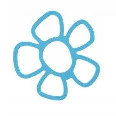 Pannenonderzetter 'Zone' (siliconen) bloem; blauw