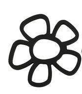 Pannenonderzetter 'Zone' (siliconen) bloem; zwart