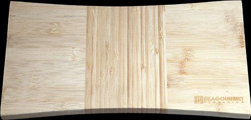 Bamboe serveer-/snijplank (antislip voetjes); 18 x 33 cm