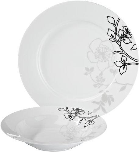 Aanbieding Moon Shadow 12 dlg: 6 diner- en 6 diepe borden