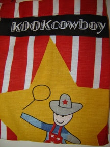 Schort (kind) 'Kook'; kookcowboy