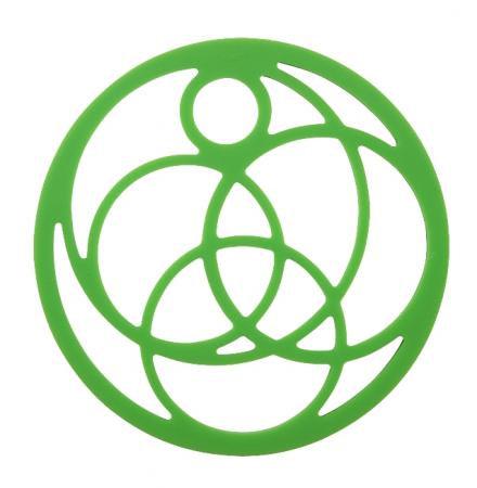 Pannenonderzetter 'Zone' (siliconen) cirkels; groen