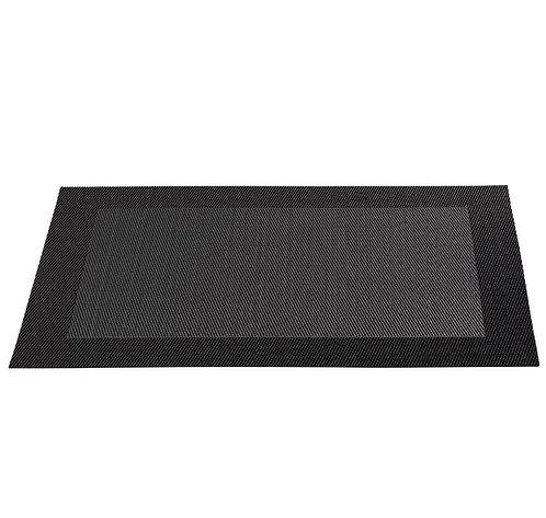 Placemat 'Asa' zwart; 46 x 33 cm