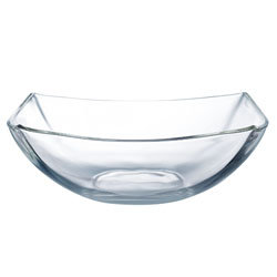 Quadrato helder glas: schaal 24 cm
