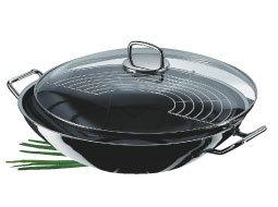 Silit Professional wok 28 cm met deksel; materiaal: Silargan