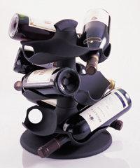 Wijnhouder voor max. 9 flessen (roterend)