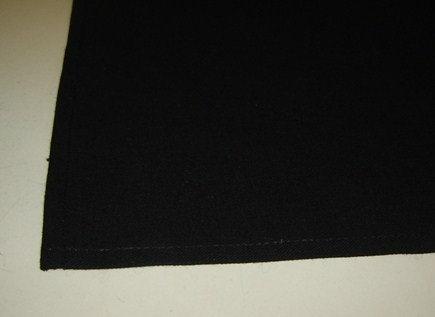 Tafelloper 'Asa' zwart; 50 x 150 cm