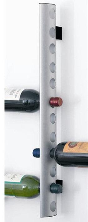 Wijnhouder voor max. 12  flessen (r.v.s.); voor aan de muur