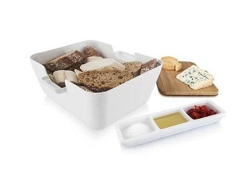 Brood and Dip 'Vaccuvin' serveerset; wit