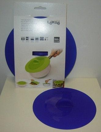 Deksel siliconen (= hittebestendig; 25;5 cm); blauw