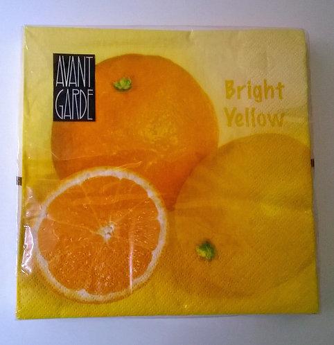Servetten (papier) 'Bright Yellow'; 33 x 33 cm
