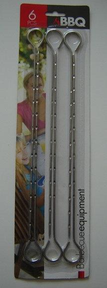 Barbeque spies (set van 6 stuks); 27 cm