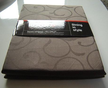 Tafelkleed 'Kook' damast (100% katoen) bruin; 160 x 240 cm