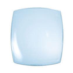 Quadrato blauw glas: bord 26 cm