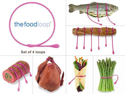 Bindtouw van siliconen ('the foodloop); 4 draden: 38 cm
