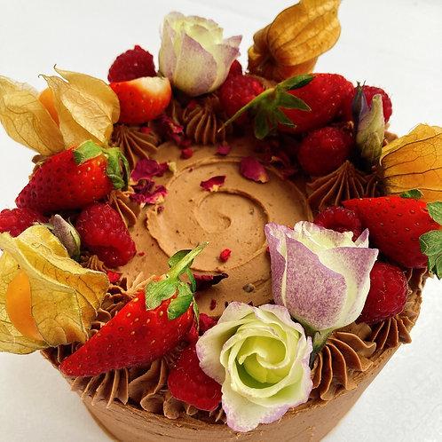 Chocolate, Fruit & Flowers N.G.C.I Layer Cake