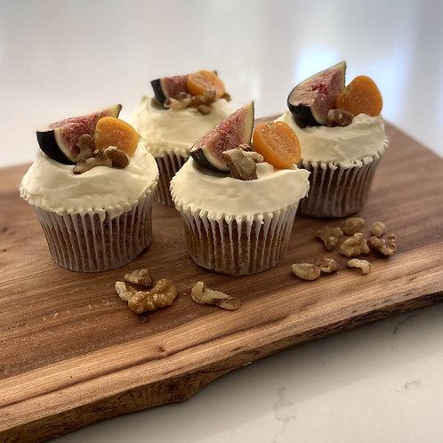 Carrot & Walnut Gluten Free Cupcakes