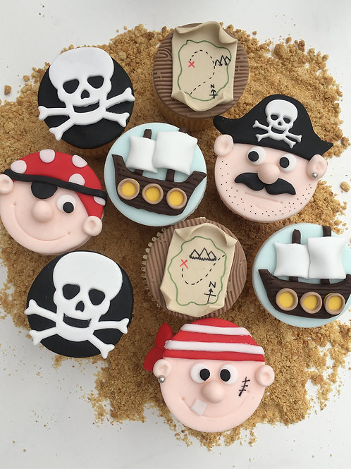 Yo Ho Ho Pirate Cupcakes