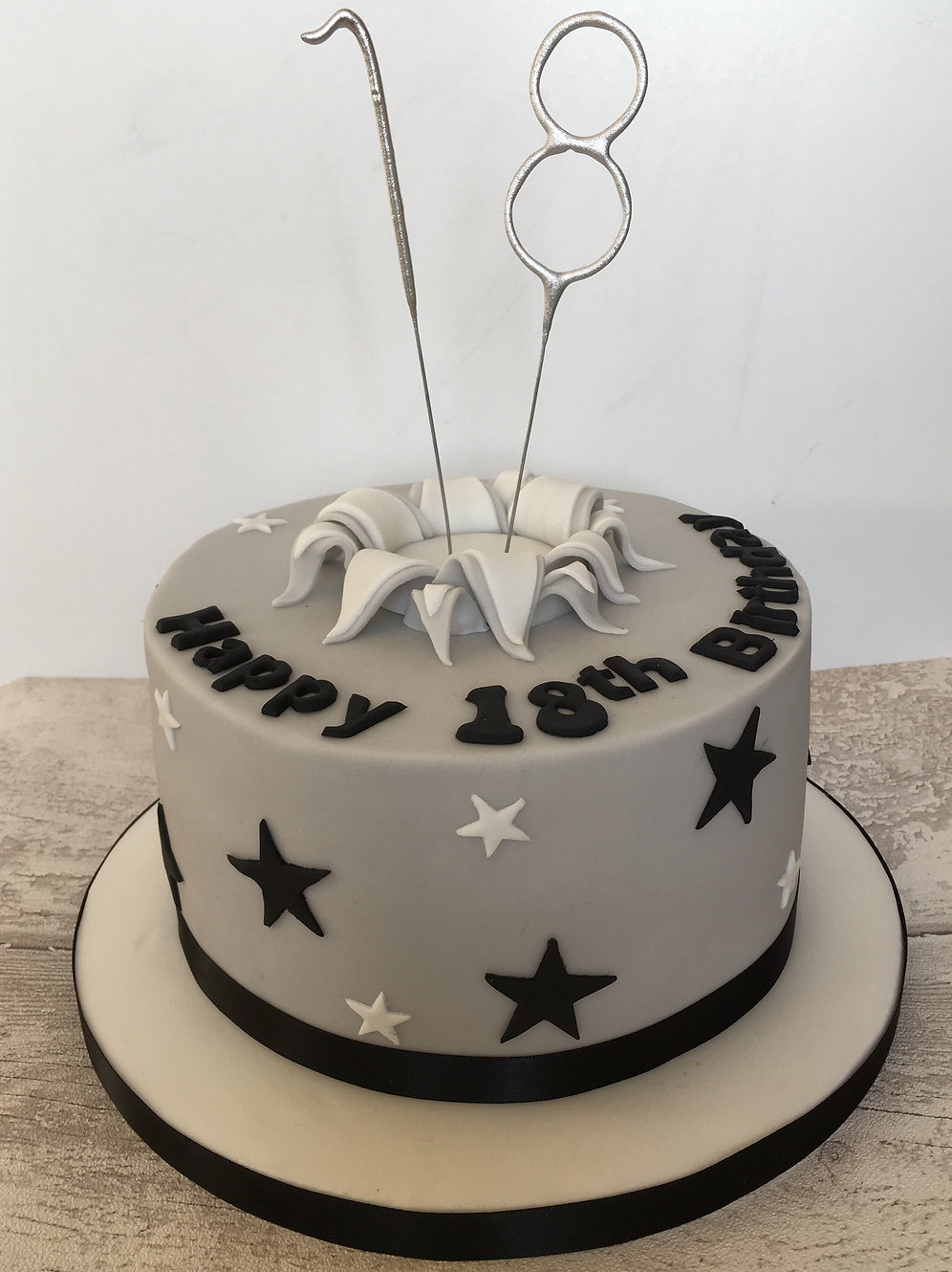 Funky Birthday Cake For Any Age With Candles Exploding Out Of The Middle