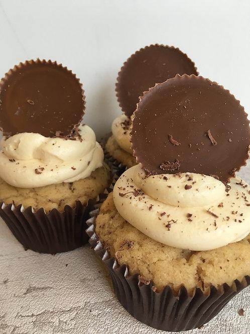 Peanut Eggless Cupcake