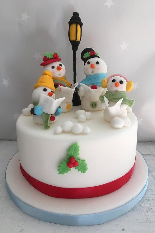 Snowman Christman Quartet Cake