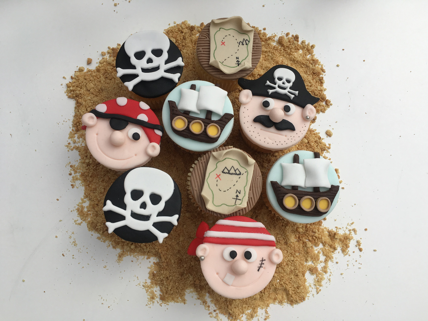 Yo Ho Ho Pirate Cupcakes