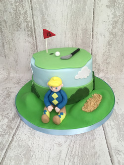 Hole in One Golf Cake
