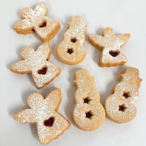 Christmas Jammy Biscuits
