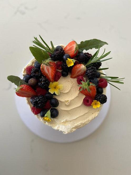 Lemon & Blueberry Layer Cake