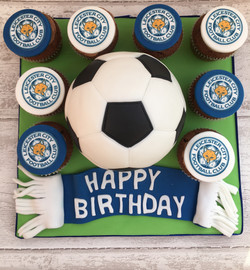Football Cake & Cupcakes