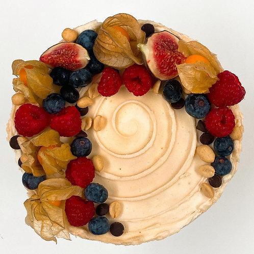 Peanut Butter Chocolate Vegan Layer Cake