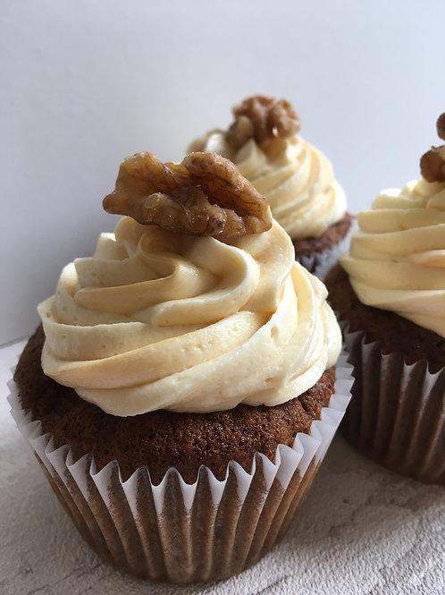 Date and Walnut Cupcake